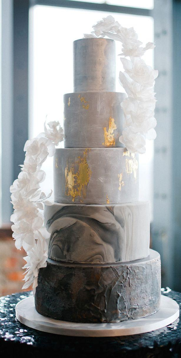 Wedding - Wedding Trends : Marble Wedding Cakes