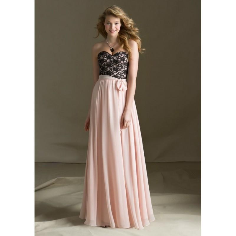 Wedding - Mori Lee Bridesmaids 682 Long Lace and Chiffon Dress - Crazy Sale Bridal Dresses