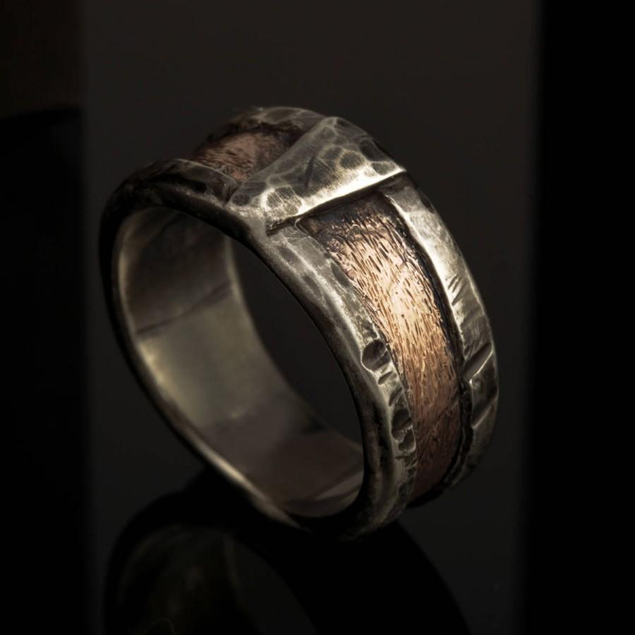 Men's Band Ring Unique Man Wedding Rustic Men Silver Engagement Rs1162: Rustic Wedding Bands Men S At Reisefeber.org