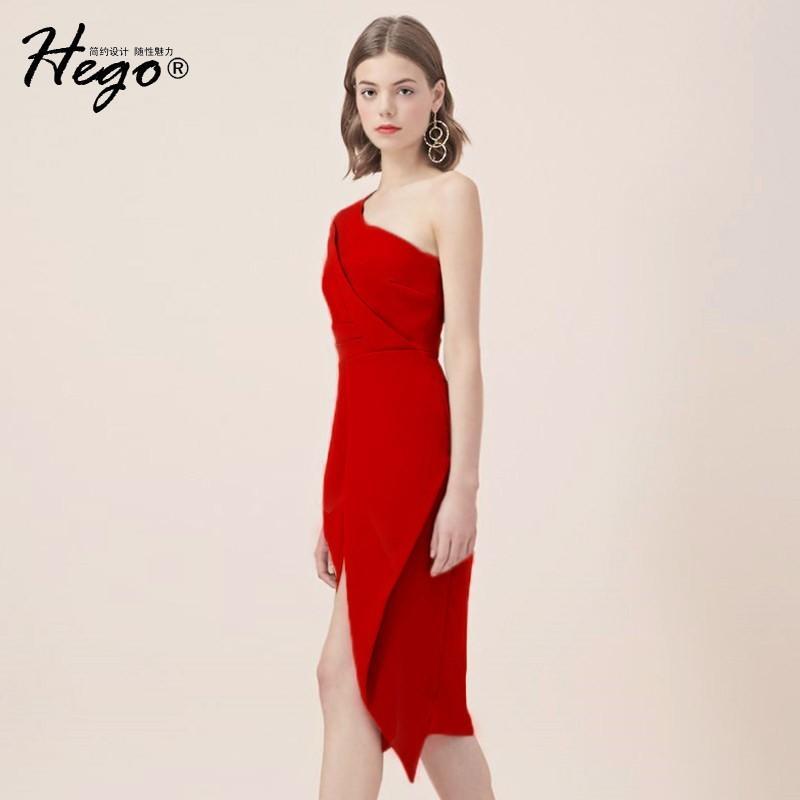 زفاف - Vogue Sexy Split Attractive Slimming Off-the-Shoulder High Waisted Summer Formal Wear Dress - Bonny YZOZO Boutique Store