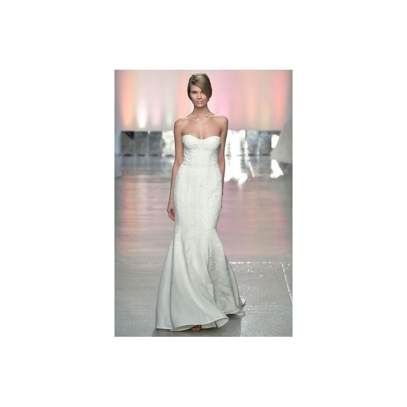 Wedding - Rivini SP2015 Dress 4 - White Fit and Flare Spring 2015 Full Length Strapless Rivini - Rolierosie One Wedding Store