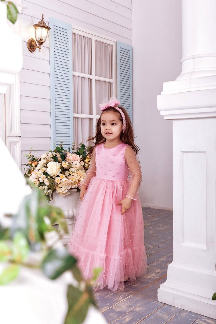 Blush Pink Flower Girl Dress Flower Girl Dress Flower Girl Dresses