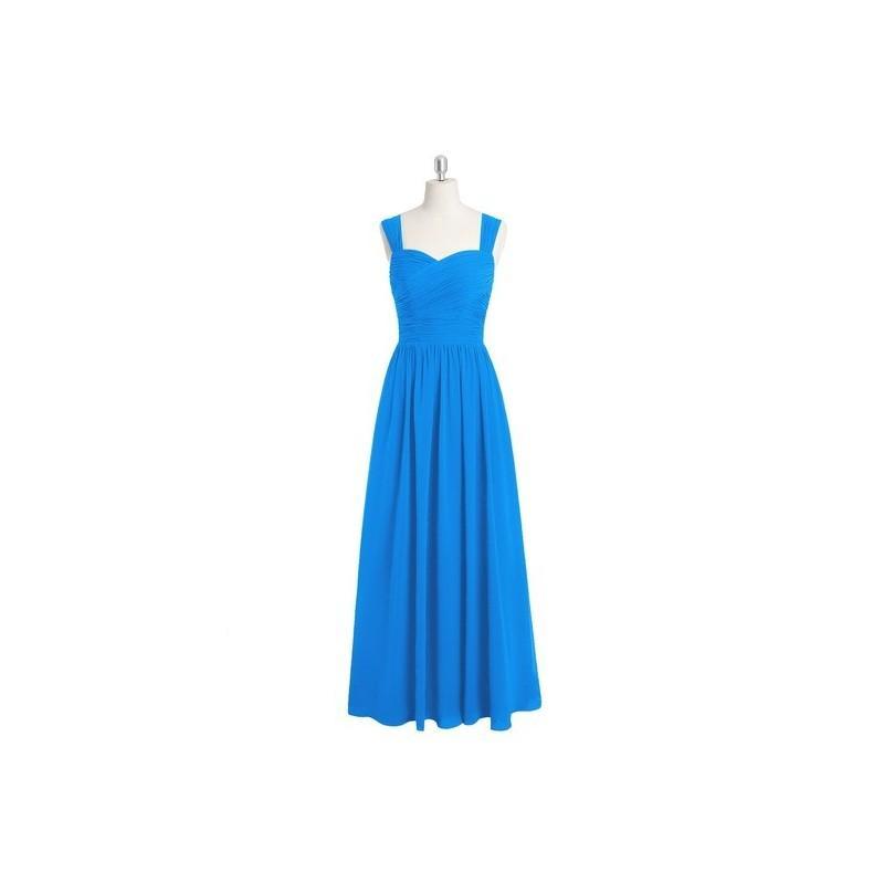 Свадьба - Ocean_blue Azazie Zapheira - Floor Length Back Zip Sweetheart Chiffon Dress - Simple Bridesmaid Dresses & Easy Wedding Dresses