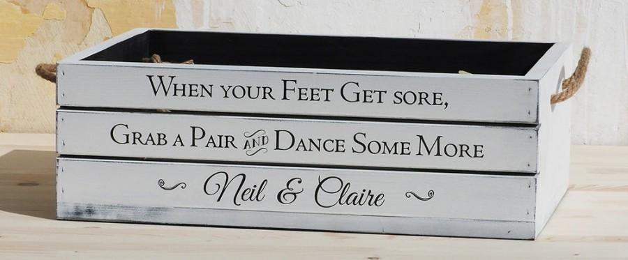 19496b70b9b3c flip flop crate vintage barn wedding crate shabby chic crate rustic wedding  slippers box custom wood crate personalised shabby chic box gift