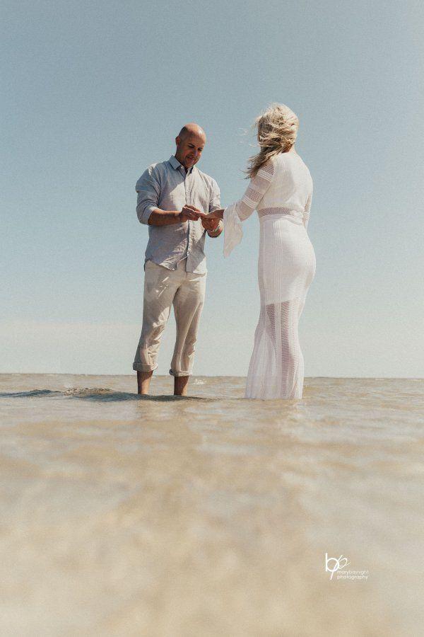 زفاف - Sandbar Elopement - Outer Banks Wedding Alternative - Simple Day LLC