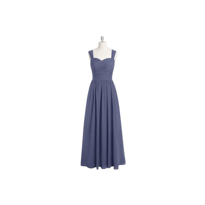 Wedding - Stormy Azazie Zapheira - Chiffon Sweetheart Back Zip Floor Length Dress - Charming Bridesmaids Store