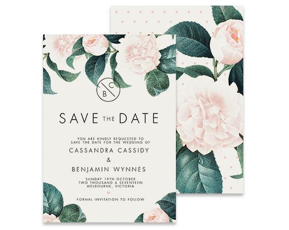 Boda - Floral Save the Date Invitation