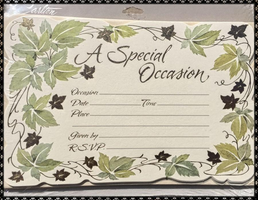 Wedding - A SPECIAL OCCASION Carlton CARDS 40 Invitations & 40 Envelopes  *Vintage Design*