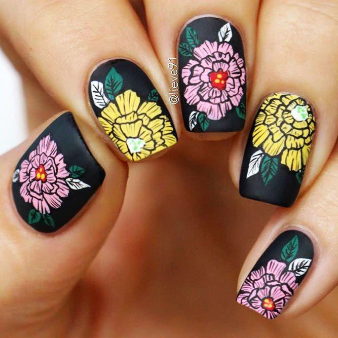 27 Trendy Black Nails Designs For Dark Colors Lovers 2830834 Weddbook