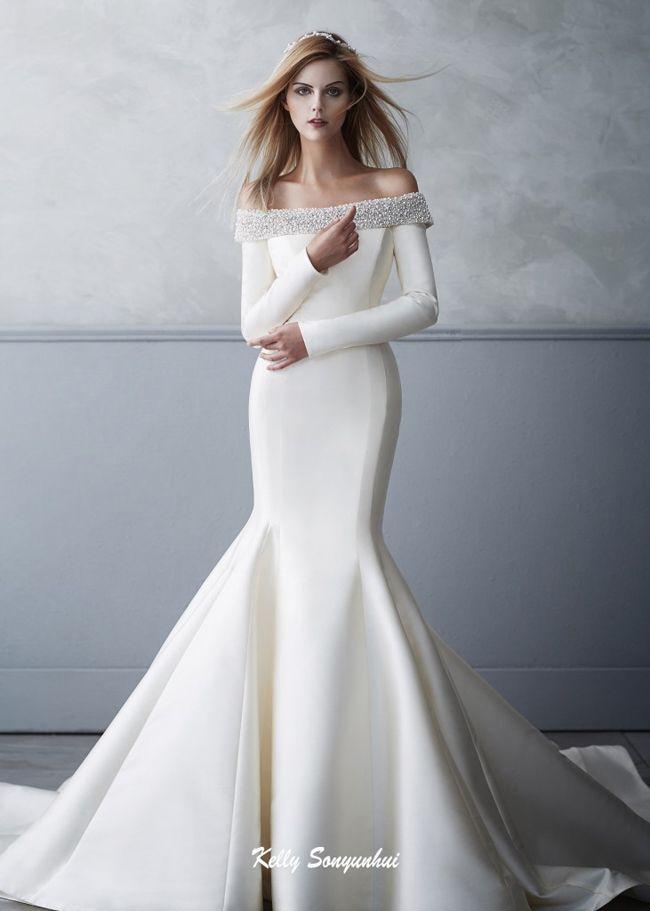 زفاف - Simply Glowing! This Sonyunhui Gown Features Stylish Modern Silhouette With A Regal Touch!