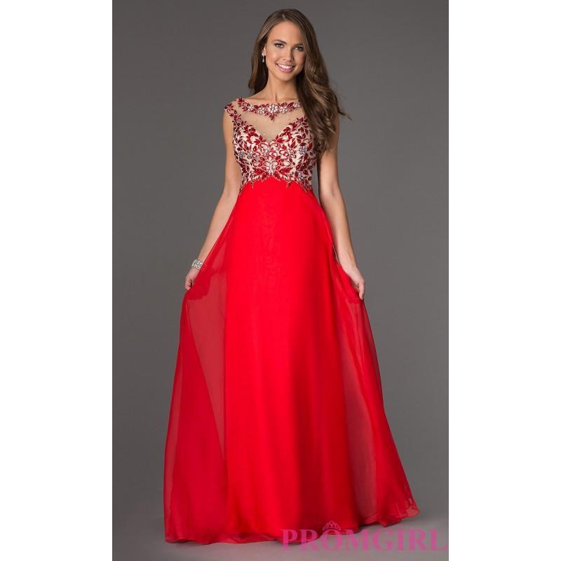 Wedding - Floor Length Sleeveless Dress - Brand Prom Dresses