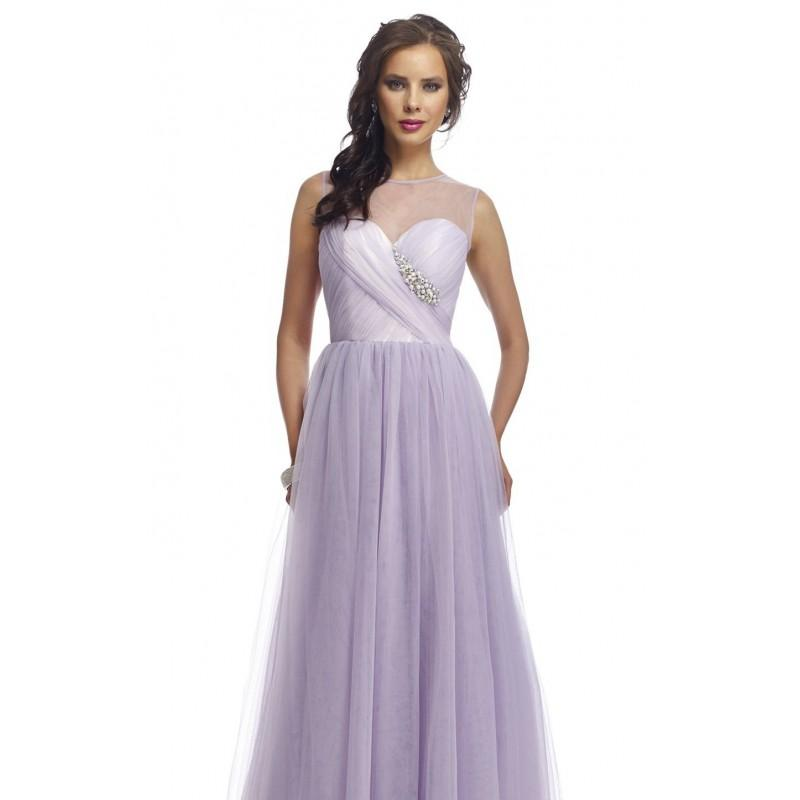 Свадьба - Lavender Beaded Sheer Cutout Back Gown by Nika Formals - Color Your Classy Wardrobe