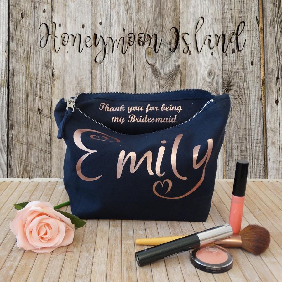 Свадьба - Wedding Make Up Bag - Personalised Make Up Bag - Cosmetics Bag - Bridesmaid Gift - Custom Make Up Bag - Wash Bag - Gift For Her - Wash Bag
