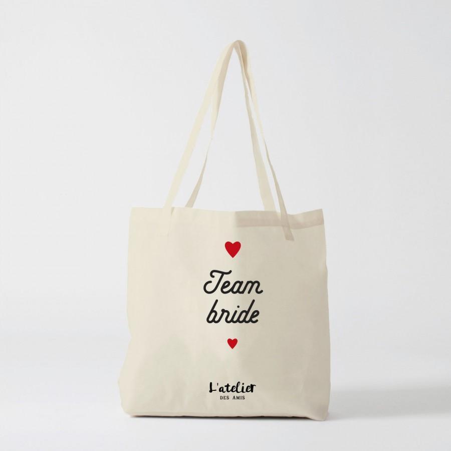 Mariage - X136Y Tote bag team bride tote bag wedding, cotton bag, shopping bag, gift for friend, gift for wedding, handbag, diaper bag