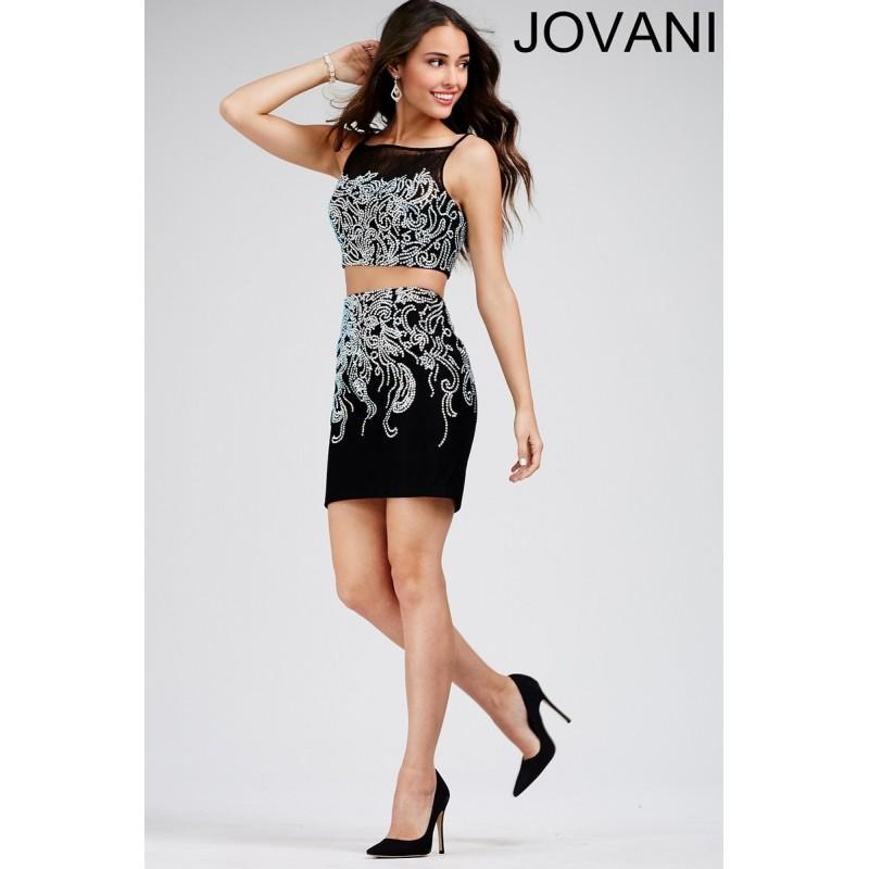 Свадьба - Jovani 27442 Dress Spaghetti Strap Square Neck Two-Piece - Homecoming Jovani 2 PC Mini Spaghetti Strap Dress - 2018 New Wedding Dresses