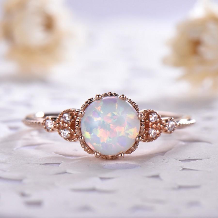 14k Rose Gold Art Deco Morganite Engagement Ring 925 Unique Art Deco Filigree Wedding Ring For Women Sterling Silver Morganite Wedding Ring