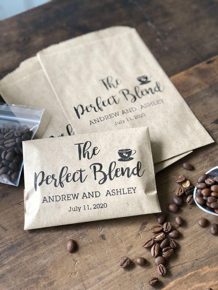 Coffee Favor Bags Wedding Favors Bridal Shower Coffee Favors