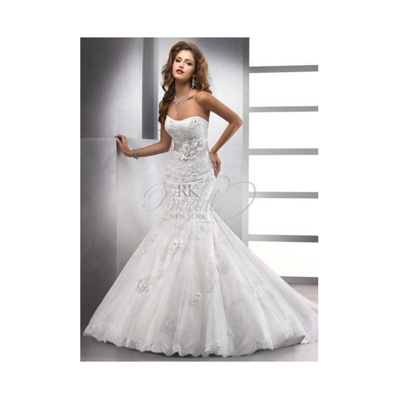 Hochzeit - Maggie Sottero Spring 2013 - Style 71523FB Hartley-Gown/Sash - Elegant Wedding Dresses