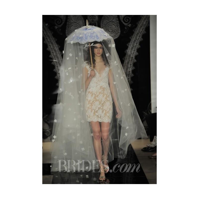 Hochzeit - Reem Acra - Spring 2014 - Miri Lace Cocktail Sheath - Stunning Cheap Wedding Dresses