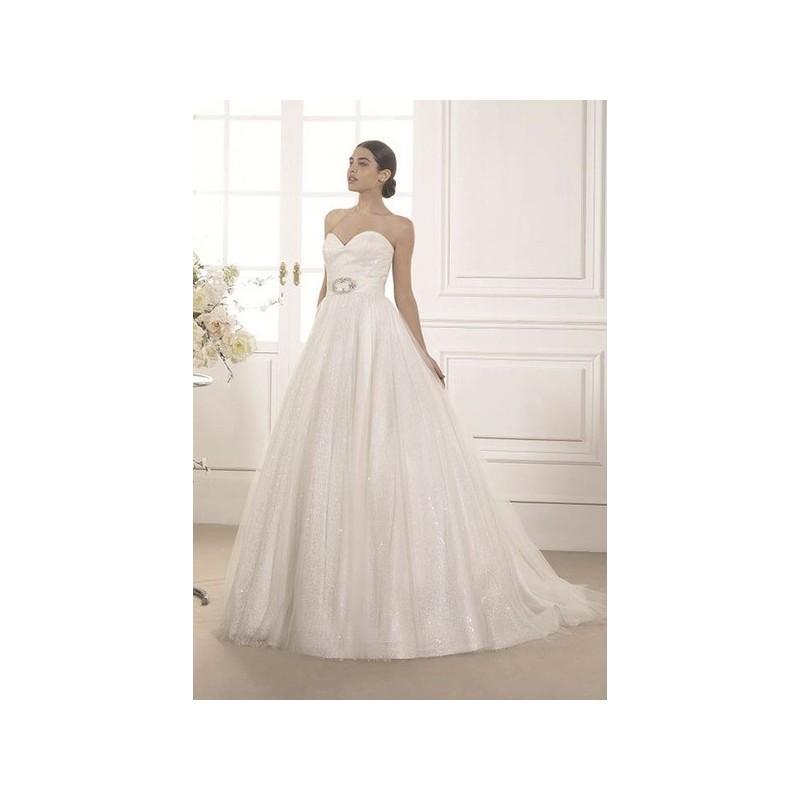 Hochzeit - Vestido de novia de Susanna Rivieri Modelo 304678 - 2015 Princesa Palabra de honor Vestido - Tienda nupcial con estilo del cordón
