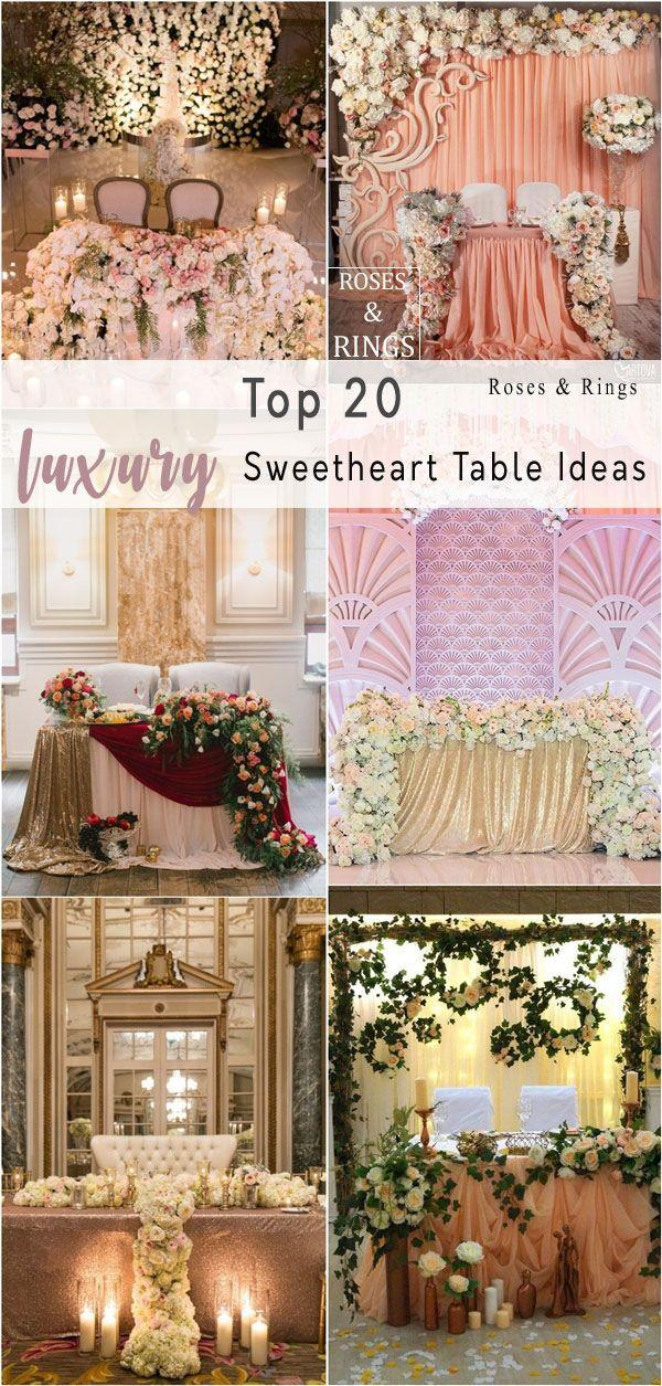 Top 11 Luxury Sweetheart Table Decor Ideas #11 - Weddbook