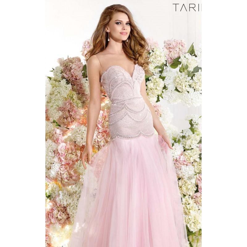 Wedding - Bead Embellished Gown by Tarik Ediz 92331 - Bonny Evening Dresses Online
