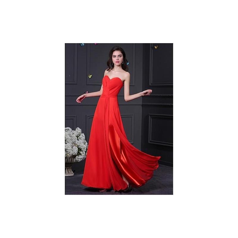 Wedding - Gorgeous Chiffon Sweetheart Neckline A-Line Prom Dresses - overpinks.com