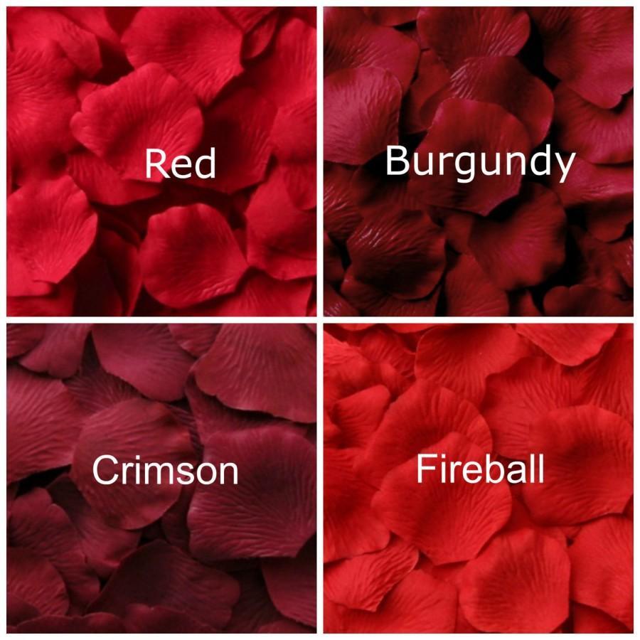 Mariage - Red Silk Rose Petals, 300 petals