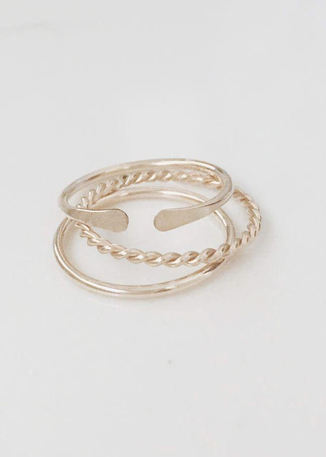 Свадьба - Twist Ring, Simple, Dainty, 14k Gold Filled Or Sterling Silver