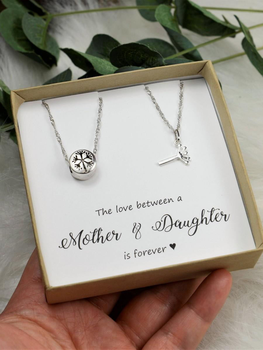 Mother Daughter wedding Gift Mother Daughter Necklace set 2 Circles Necklace Mothers day Necklace