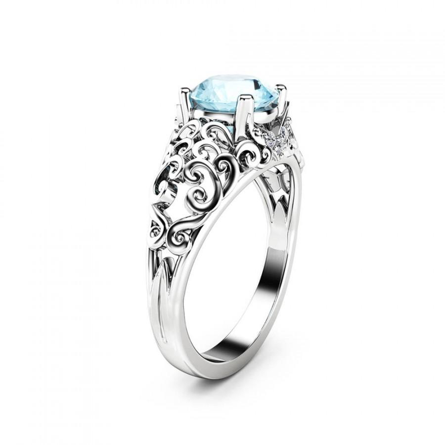 unique engagement gold rings il carat ring aquamarine natural products white art an deco fullxfull set