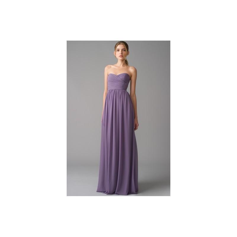 Свадьба - MH 450017 - Spring 2012 Purple Monique Lhuillier Sheath Sweetheart Full Length - Rolierosie One Wedding Store
