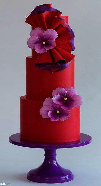 Boda - Color Combo. . .Purple And Red.