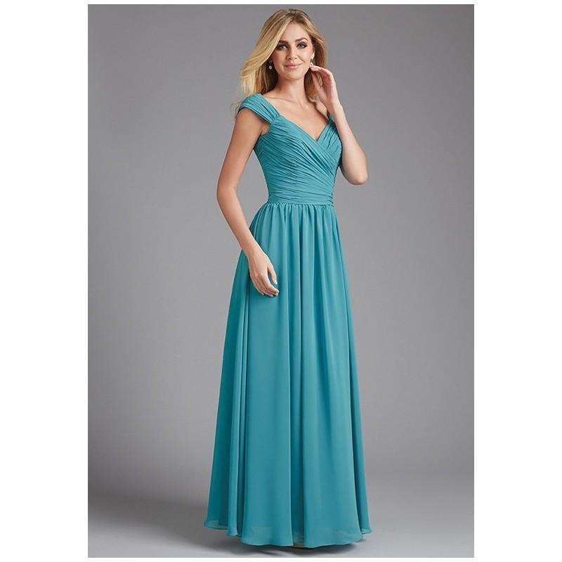 eb0d4c0f094 Allure Bridesmaids 1374 - A-Line Sweetheart Chiffon Floor Natural Ruching -  Formal Bridesmaid Dresses 2018
