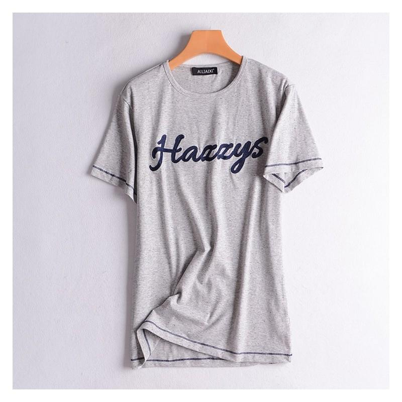 Свадьба - Slimming Cotton Alphabet Summer Flexible Essential T-shirt Top - Discount Fashion in beenono