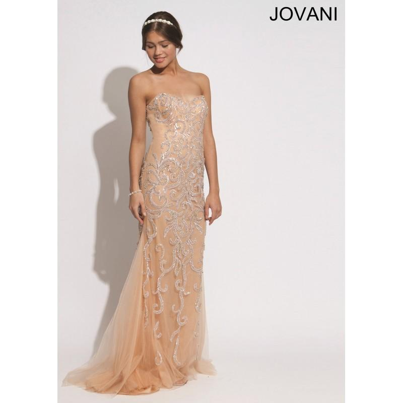 Jovani 72651 Strapless Evening Gown 2018 Spring Trends Dresses