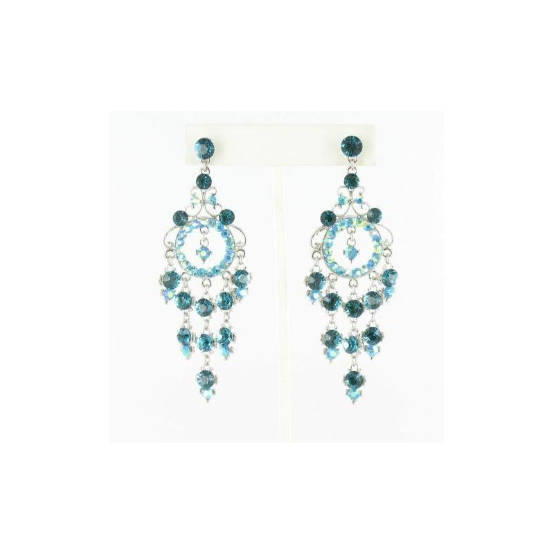 Mariage - Helens Heart Earrings JE-X006403-S-Indicolite Helen's Heart Earrings - Rich Your Wedding Day