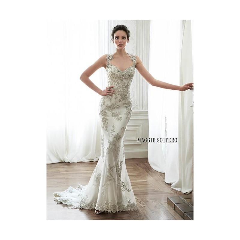 Свадьба - White/Pewter Accent Maggie Bridal by Maggie Sottero Jade - Brand Wedding Store Online