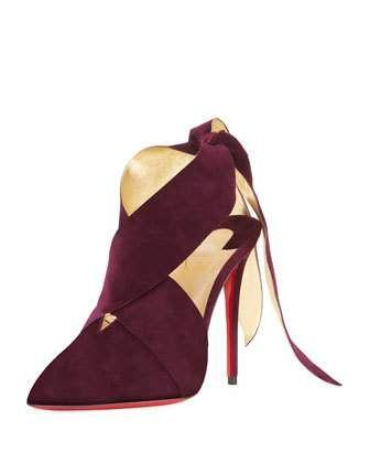 Wedding - Ramour Suede Red Sole Pump
