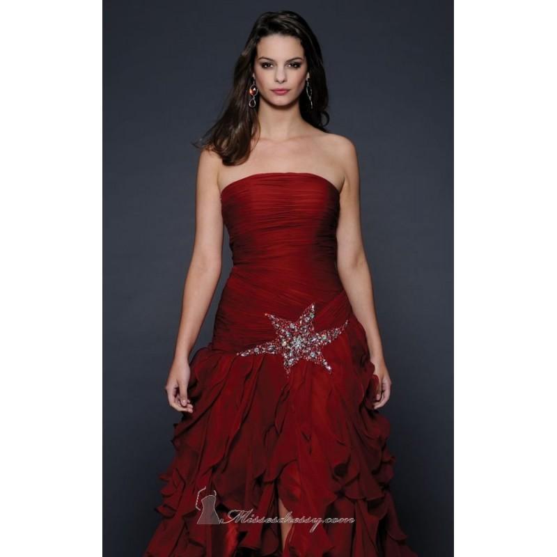 Wedding - Dark Red Strapless Dress by Lara Designs - Color Your Classy Wardrobe