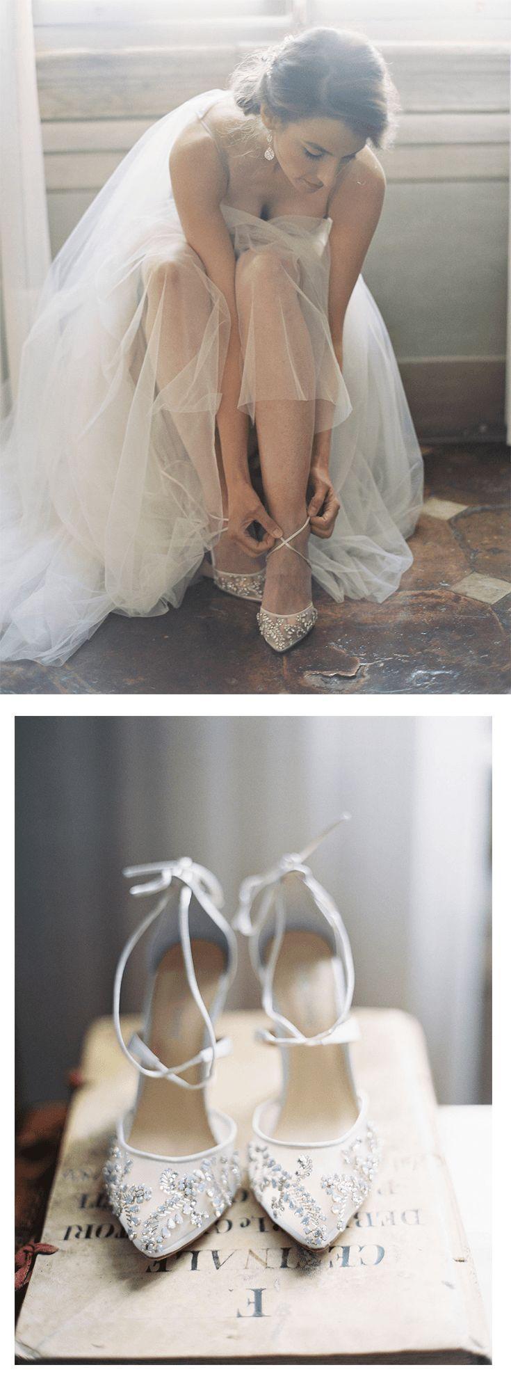 Hochzeit - Embellished Ivory Crystal Wedding Heels - Florence Ivory