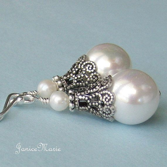 Wedding - Freshwater Pearl Earrings, Pearl Drop Earrings,wedding Pearl Earrings,bridal Pearl Earrings,bridesmaid Pearl Earrings,pearl Hanging Earrings