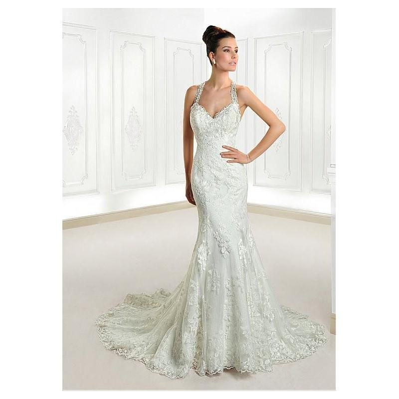 Mariage - Elegant Tulle Halter Neckline Natural Waistline Mermaid Wedding Dress With Lace Appliques - overpinks.com