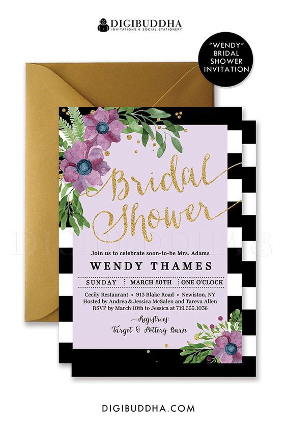"Wedding - ""Wendy"" Mint   Mauve Flower Bridal Shower Invitation"