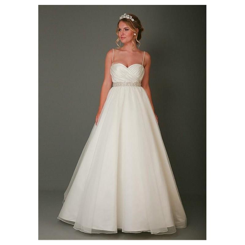 Boda - Fabulous Organza Spaghetti Straps Neckline A-line Wedding Dresses - overpinks.com