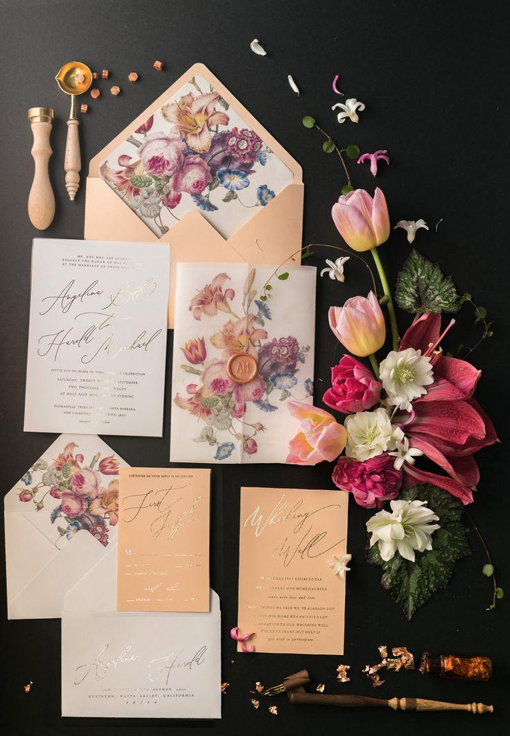 Wedding - TOP 10 Most Romantic Vintage Flowers Wedding Invitations