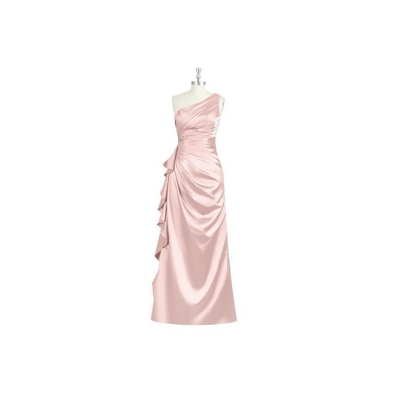 Wedding - Dusty_rose Azazie Kamila - Floor Length One Shoulder Side Zip Charmeuse Dress - Charming Bridesmaids Store