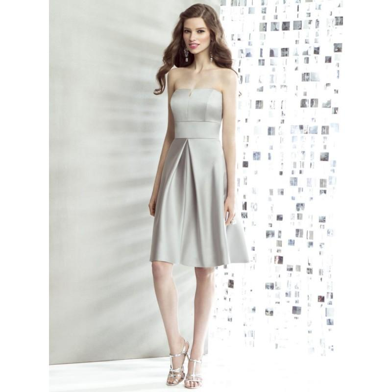 Hochzeit - Dessy Social 8135 Matte Satin Short Bridesmaid Dress - Brand Prom Dresses