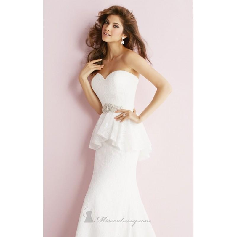 Hochzeit - Embellished Strapless Sweetheart Gown by Allure Bridals Romance - Color Your Classy Wardrobe