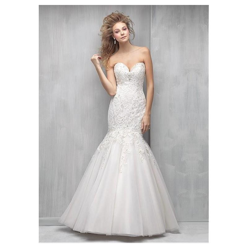 Mariage - Wonderful Lace Sweetheart Neckline Mermaid Wedding Dresses With Lace Appliques & Beadings - overpinks.com